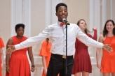 Devonta Dickey '18 singing at Big Red Weekend