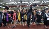 2018 Denison graduates celebrating