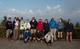 Group photograph of students on geosciences field trip