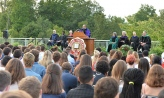 President Adam Weinberg speaking at the induction ceremony