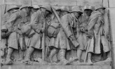 Frieze of WWI soldiers