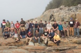 Group photograph of students in Maine