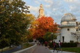 Chapel walk in the fall