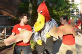 Residential Communities staff with Buzzy the buzzard.