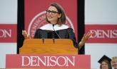 Jennifer Garner '94 speaking at commencement