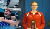 Denison Big Red swimmers K.T. Kustritz and Richie Kurlich