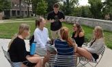 Students on academic quad