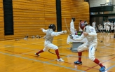 Two student fencers