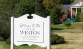 Weston Massachusetts sign