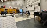 students rehearsing