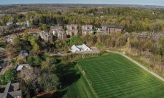 An aerial view of north quad and the IM field