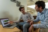 Fulbright Research Student Hoke Wallace '20 with Denison Chemistry Professor Joe Reczek