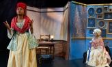 Destiny Mack '21 as Marianne Angell and Jordan Zelvin '21 as Marie Antoinette
