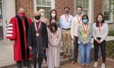 2021 President's Medalists with Denison President Adam Weinberg