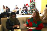 Holiday party in East Hall