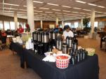 Coffee and snacks in the library