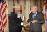 politicians with faces blurred