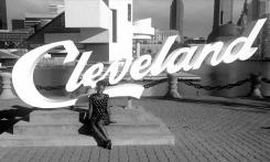 Andrianna Peterson '18 during Cleveland summer internship