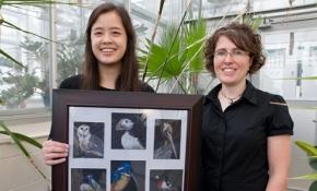 Megan Van Horn and Associate Professor of Biology Laura Romano
