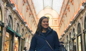 Kim Moreira '21 in Brussels