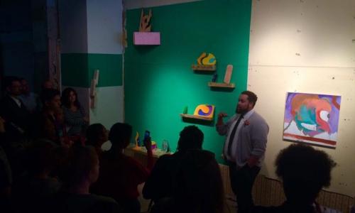 demonstration at Denison Art Space in Newark