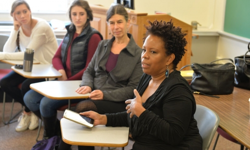 Regina Carter in the classroom