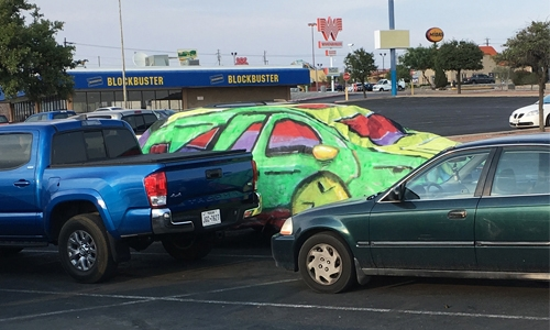 Six paintings on car covers (101138)