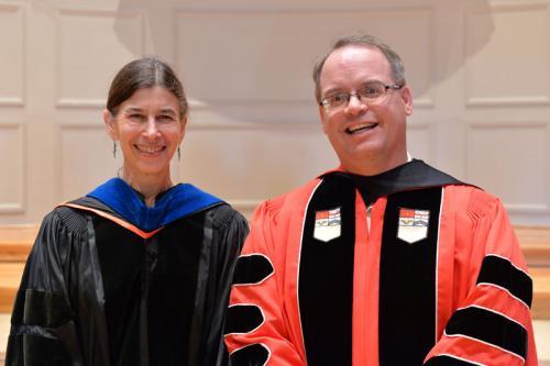 Denison honored Steven Doty and Linda Krumholz
