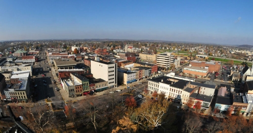 Aerial view of Newark