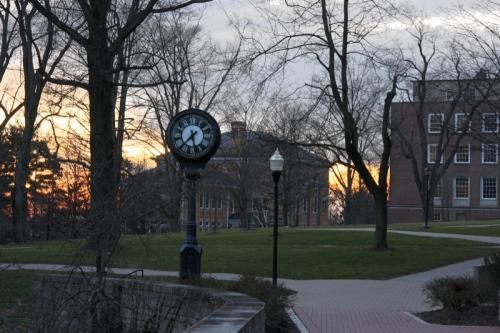 Academic Quad at Night Image