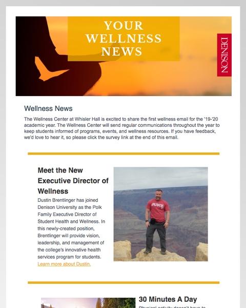 Wellness Newsletter thumbnail
