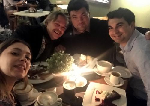 Group dinner photo