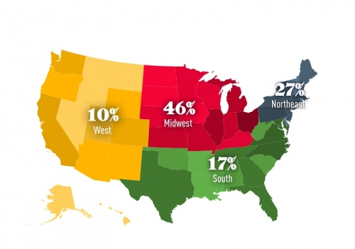 Where are students are coming from in the U.S. (Class of 2024)