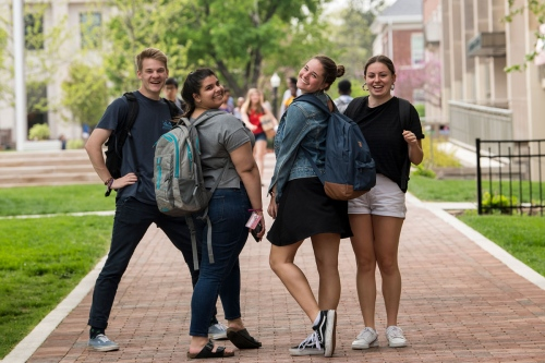 Students on chapel walk