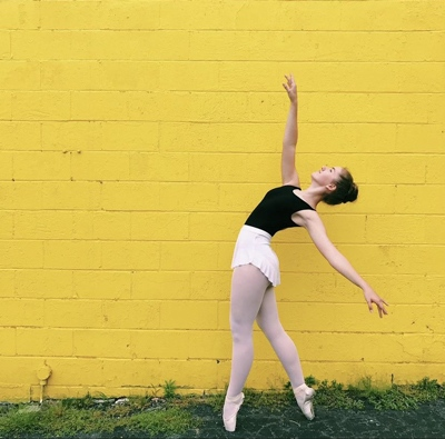 Person doing ballet