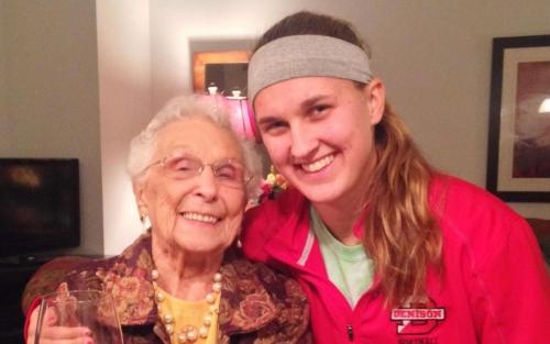 Anna Balch and her grandma