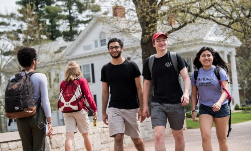 Denison students on chapel walk