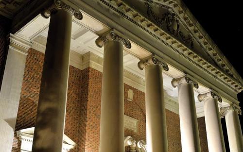 Swasey Chapel at night