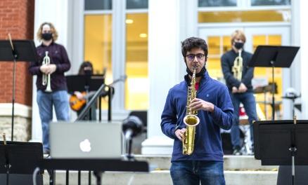 outdoor jazz - saxophone