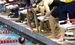 Women Swimmers Make a Statement at Denison Invitational
