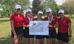 Senior Sophia Alexander breaks women's golf single-round scoring record