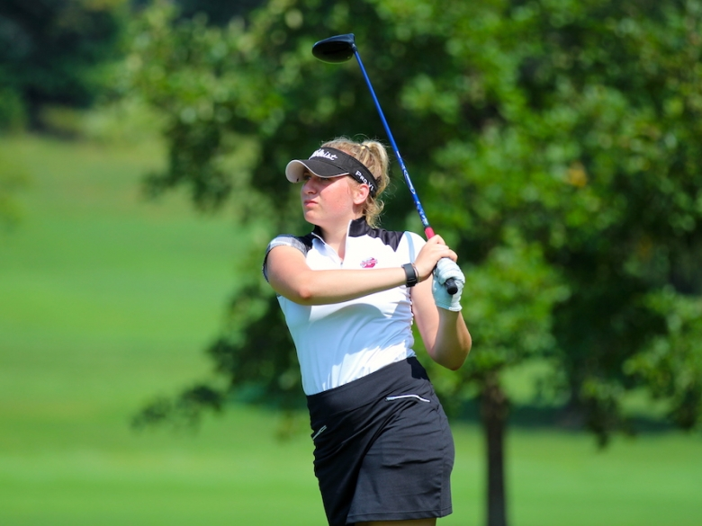 Women's Golf - taking a swing