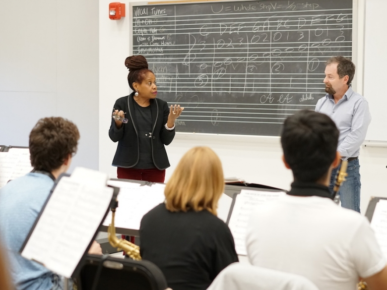 Music classroom discussion