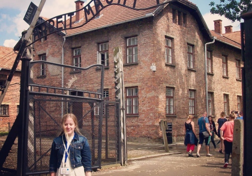 McLaughlin in Auschwitz Poland