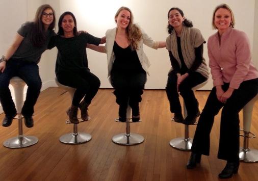 denison alumni dance panel on stools