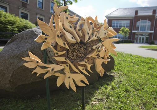 Bee hotel sculpture