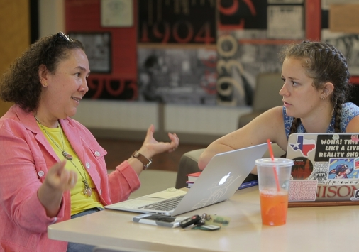 Monica Ayala-Martinez with student