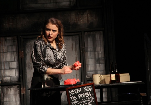 Megan Lovely in a production of Sweeny Todd