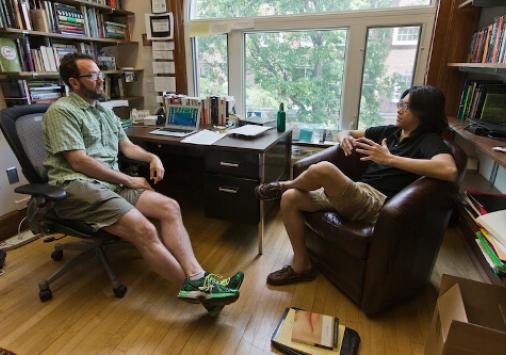 Dennis Lu in meeting