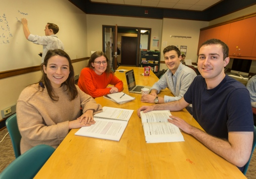 Students together in Olin